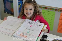 Preschool Daily Learning Notebook and Letter printables!   If you are looking for some awesome ideas for homeschooling, you should definitely check out: Confessions of a Homeschooler.   She is on Pinterest, and has a blog. :-)   Her Pinterest search name is:  Homeschooler Confessions.