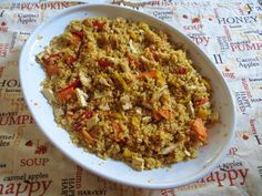 Couscous di pollo speziato | Ricette della Nonna Apple Soup, Fett, Fried Rice, Harvest, Curry, Pumpkin, Pasta, Chicken, Ethnic Recipes