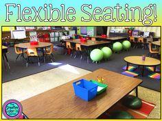 The Creative Colorful Classroom: Flexible Seating- 5 Months Later. First Grade Classroom, Classroom Setup, Classroom Design, Kindergarten Classroom, School Classroom, Classroom Organization, Future Classroom, Organization And Management, Classroom Management