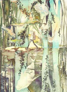 Mushishi   Artland   Yuki Urushibara / 「鏡が淵」/「せんこうじしん」のイラスト [pixiv]