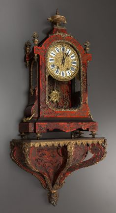 LOUIS XIV-STYLE BOULLE CLOCK, 19th century.