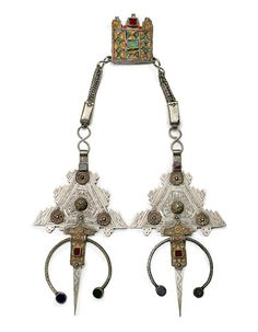 Africa   Fibula from Morocco   Silver, enamel and glass