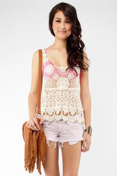 Lace tank-pretty sure I want one for this spring/summer season