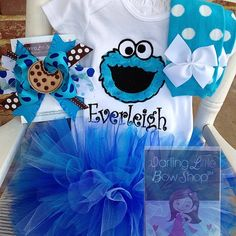 Hey, I found this really awesome Etsy listing at https://www.etsy.com/listing/182826567/cookie-monster-outfit-for-little-girls