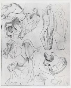 Ideas for Sculpture: Transformation of Bones – Results – Search Objects – Henry Moore Foundation Abstract Sculpture, Wood Sculpture, Metal Sculptures, Bronze Sculpture, 3d Drawings, Drawing Sketches, Henry Moore Drawings, A Level Art, Artist At Work