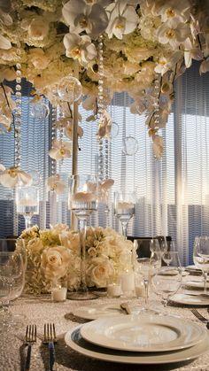 An indoor wedding reception at the Hyatt Regency Los Angeles International Airport