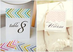 #chevron table numbers