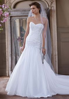 Searching for discount wedding dresses? Browse David's Bridal wedding dresses for sale, including discount plus size & designer wedding dresses online now! Bridal Wedding Dresses, White Wedding Dresses, Bridal Style, Bridesmaid Dresses, Wedding Outfits, Bride Dresses, Wedding Bells, Bridesmaids, Wedding Gown Preservation