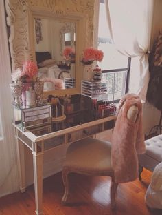 Pier 1 Hayworth Collection vanity for my makeup!