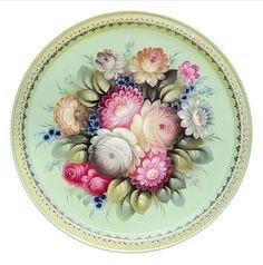 Фотография Acrylic Painting Flowers, Decoupage, Folk Art, Decorative Plates, Photo Wall, Tableware, Pattern, Crafts, Inspiration