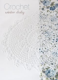 Anabelia craft design: Crcohet winter doily free pattern, a gift and an award Diy Crochet Stitches, Thread Crochet, Filet Crochet, Crochet Motif, Crochet Designs, Crochet Bedspread, Crochet Tablecloth, Crochet Winter, Crochet Home
