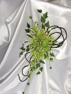 Bridal bouquet spider chrysanthemums spray sugar flowers