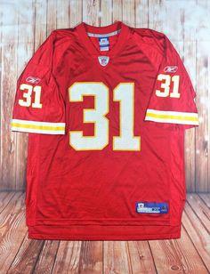 bf2bd9447acd Reebok NFL Equipment Red Kansas City Chiefs Priest Holmes  31 Nylon Jersey  XL AA