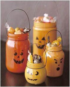 Decorar tarros de cristal #Halloween #DIY