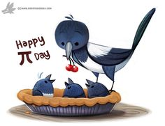 Daily Paint #1210. Magpie, Piper Thibodeau on ArtStation at https://www.artstation.com/artwork/4ya0W