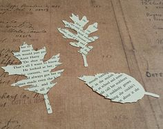 Tattered leaf die cuts