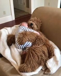 A cozy cuddle on another dreary day 🙃☁️ wishing for some sun again soon! So Cute Baby, Cute Funny Babies, Cute Baby Smile, Cute Baby Videos, Cute Animal Videos, Cute Dogs And Puppies, Baby Dogs, Doggies, Cute Little Animals