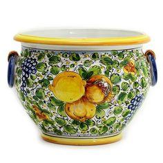 TUSCANIA - Artistica.com Italian Pottery, Tuscany, Safe Food, Planter Pots, Vase, Landscape, Green, Pattern, Color