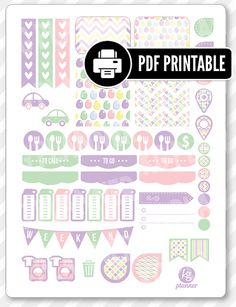 """One 8.5"""" x 11"""" PDF PRINTABLE Easter weekly spread kit stickers for use in your Erin Condren life planner, Filofax, Plum Paper, etc!  ‣ PRINTABLE/DOWNLOADABLE FILE ONLY. Nothing will be shipped. ‣ FOR PERSONAL USE ONLY. COMMERCIAL USE OF ANY KIND IS PROHIBITED.  •••••••• F O L L O W •••••••• f: www.facebook.com/kgplanner i: www.instagram.com/kgplanner t: www.twitter.com/kimgrish  •••••••• A R T W O R K •••••••• Artwork under free commercial use with attribution: © Freepik.com, ©…"""