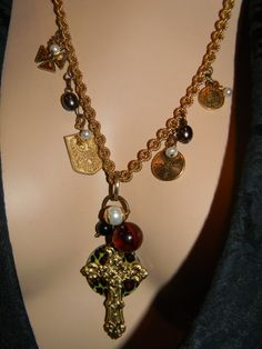 Genuine Vintage Baroque Brass Cross Gold by Thebaroqueprincess, $115.00