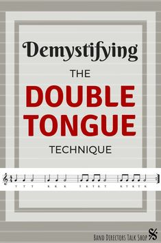 """Articulation is something that brass players must practice on a daily basis. This article has some great tips for learning double tongue technique after mastering single tonguing (just using a """"T"""" syllable). Syncing (aligning) the fingers and tongue at different tempi is another technique that must be practiced. Band directors and beginning brass class teachers, these band teaching ideas are for you! #banddirectorstalkshop Education Middle School, Middle School Music, Music Lesson Plans, Music Lessons, Music Classroom, Future Classroom, Classroom Ideas, Elementary Music, Upper Elementary"""