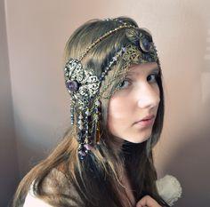 Art Nouveau Mucha Headdress photography Emily Sullivan  model Miranda Sullivan