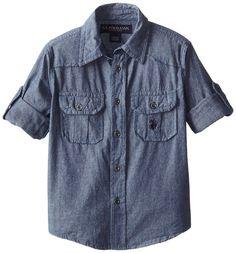 335188ad8a Amazon.com  U.S. Polo Assn. Boy s Long Sleeve Chambray Sport Shirt  Clothing
