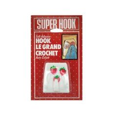 "24 Small super hook by FindingKing. $45.50. This strawberry-themed super hook will hold just about anything you ask it to. It's self-adhesive; so it's easy to install; and it should be adhered to a smooth; dry surface only. Hook measures 2"" x 2""."