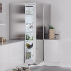 Hörnkyl Norcool Rostfri Fristående 60000013 Bathroom Medicine Cabinet, Cabinet, Pantry, Kitchen, Bathroom