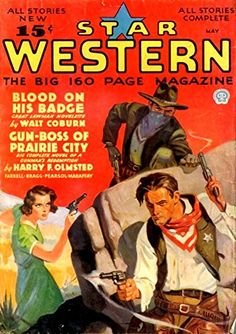 'Star Western Magazine - Blood On His Badge' Fantastic A4…