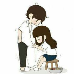 Gud mrng Januda😚have a beautiful day❤love u Sweetheart👶💏💑💋 Cute Chibi Couple, Cute Couple Selfies, Love Cartoon Couple, Cute Couple Comics, Cute Couple Drawings, Cute Couple Art, Cute Kawaii Drawings, Anime Love Couple, Cartoon Love Photo