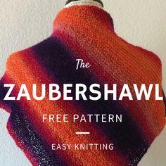 Zaubershawl Free Knitting Pattern - Easy one-ball project!