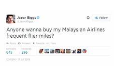 Ator disse no Twitter que queria vender suas milhas da Malaysia – internet nao gostou - Blue Bus