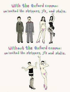 Texas Teacher Gives High School Kids Lesson On Oxford Comma With Image Depicting Strippers » Politichicks.com