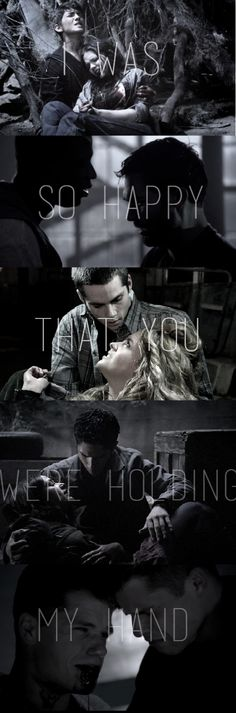 "Teen Wolf ""I was so happy that you were holding my hand"""