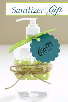 """Adorable Hand Sanitizers - would be cute in """"Get Well Soon"""" basket, New Nurse/CNA/MD grad, or New Job for desk"""