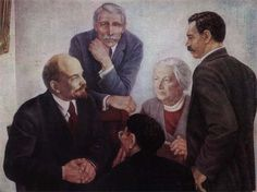 """""""No individual organizations of woman-communists. A Woman-communist- same party member, as a communist, with the same duties and rights. There can be no discrepancies"""". V.I. Lenin from the book Clara Zetkin about Lenin. Collection of articles and memoirs, Istpart 1933 Meeting on the photo of Lenin with Board members IV Congress of the Comintern (M. Cachin, Clara Zetkin, B. Kuhn, S. Katayama) #Lenin #womanCommunist #party #Zetkin"""