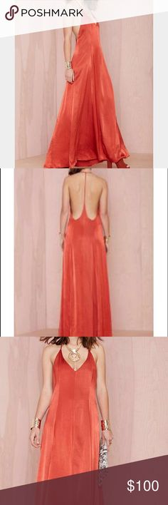 "Nasty Gal After Party Vintage Backless Maxi Dress ""Dream On"" Maxi, Great Condition Nasty Gal Dresses Maxi"