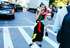 Natasha Goldenberg in a Jacquemus dress |Street Style: New York Fashion Week Spring 2016 Ready-to-Wear