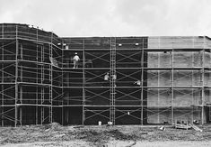 Building a wall #blackandwhite #composition #cinematography #perspective #construction #lines #iphoneography #vscocam