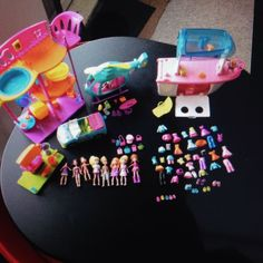 #PollyPocket Bundle includes House Helicopter Car Boat Dolls + accessories