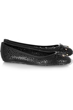 Jimmy Choo | Walsh perforated leather ballet flats | NET-A-PORTER.COM