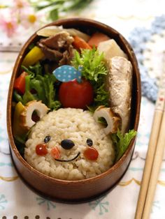 brown rice bear bento...this is just too cute for me to eat