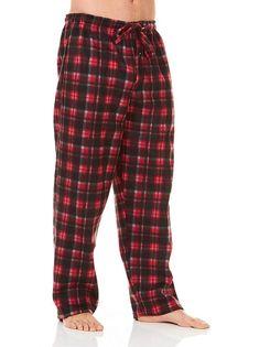 0f48b2d8f8 Unique Styles Mens Pajama Pants Polar Fleece Plaid Warm Lounge PJ Sleep  Pant  fashion