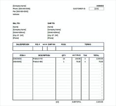 Invoice Template Microsoft Businesscasetemplate  Excel Invoice Template  Pinterest .