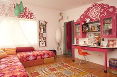 Design Board: A Bohemian Inspired Room | Project Nursery.  Girl's Bedroom.  Teen and kids bedrooms.  Home decor and interior design.