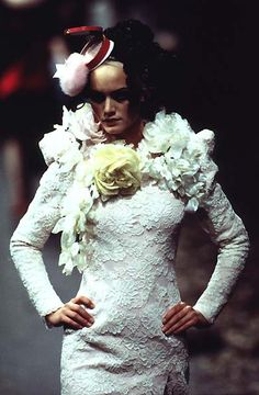 1996-97 - Galliano 4 Givenchy Couture -  Amber Valetta