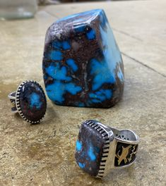 Vintage Turquoise, Turquoise Jewelry, Bisbee Turquoise, Navajo Jewelry, Trading Company, Deep Blue, Gemstone Rings, Dark Blue, Jewelry Rings