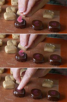 homemade chocolate transfer sheets