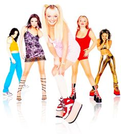 May 2014 marks the anniversary of when Geri Halliwell left the most successful girl group of all-time. Rather than mourn the occasion, let's celebrate the group's body of work with a look at every single Spice Girls song ever released. Spice Girls, Emma Bunton, Victoria Beckham, Geri Halliwell, Good Girl, 90s Childhood, Childhood Memories, Nice Memories, 90s Fashion